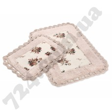 Набор ковриков Irya - Essa pembe розовый 70*110+40*60