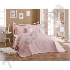 Покрывало хлопок с наволочками Halley - Block 250*260 розовый