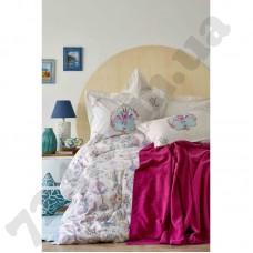 Постельное белье Karaca Home - Malia turkuaz 2018-2 бирюзовый пике 220*230 евро