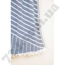 Полотенце Barine Pestemal - Cross 95*165 Black черное