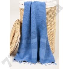 Полотенце Barine Pestemal - Stone 85*160 Denim синее
