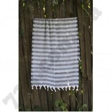 Полотенце Lotus Pestemal - Black 08 75*150 Hard stripe