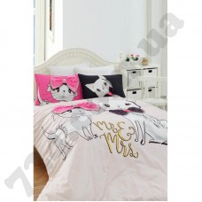 Постельное белье Charlot Home - Pisy pembe розовый ранфорс евро