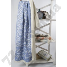 Плед микроплюш Barine - Kilim blue 130*170