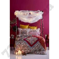 Постельное белье Karaca Home ранфорс - Carmita fusya 2019-1 фуксия пано евро