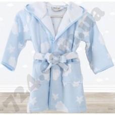 Халат детский Irya CLOUD голубой 3-4 ГОДА