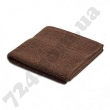Полотенце Пакистан 50х90 темно-коричневое с кантом (пл 400) (131690)