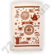 Полотенце кухонное велюровое Akipek 40Х60 ДУХМ ЯНА Кофе (120434)