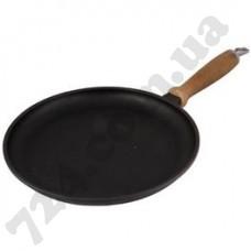Сковорода для блинов 260х20 ручка чугун Берліка (129015)