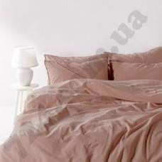 Постельный комплект Limasso COMMENCER светло-коричневый с рюшем (евро) (141685)