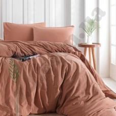 Постельный комплект Limasso COMMENCER светло-коричневыйЙ с рюшем (семейный) (141698)