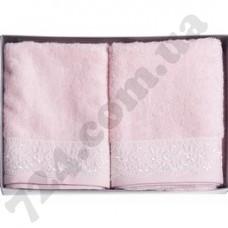 Набор полотенец Flashy 2шт.(50х90) розовый Diandra
