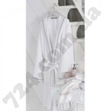 Халат Ladinne (L/XL) PERA белый-бежевый
