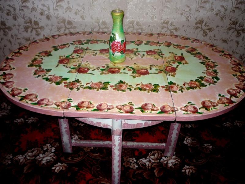 Как декорировать старый стол своими руками 268